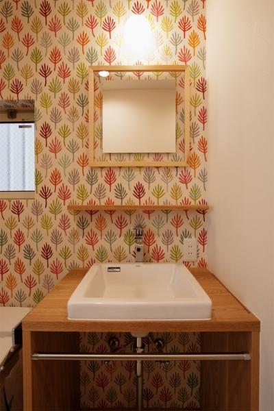 洗面台 (K邸・音楽室のある光あふれる小さなお家)