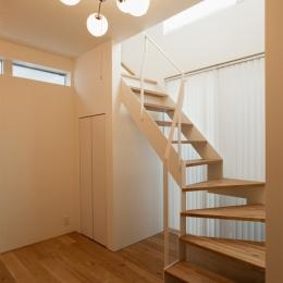 K邸・音楽室のある光あふれる小さなお家 (階段)