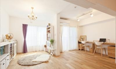 東京都狛江市A様邸 ~広いLDKで寛ぐフレンチカントリーな家~ (自由に楽しむ、広々LDK)