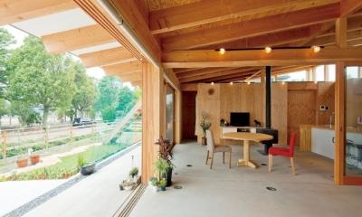 土間リビングで愛車と暮らす家|BEAT HOUSE (土間リビング)