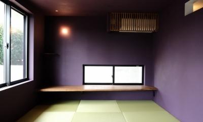 今治の家 色と素材が結びつくパッチワークみたいな家 (畳コーナー)