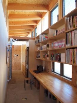 埼玉県熊谷市・芝屋根住宅-2|BEAT HOUSE (趣味のワークスペース)