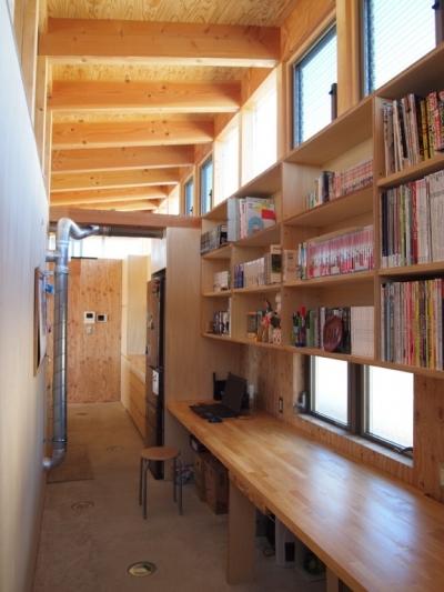 趣味のワークスペース (埼玉県熊谷市・芝屋根住宅-2|BEAT HOUSE)