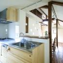 東京都大田区I様邸 ~自然素材とスキップフロアが楽しい家~の写真 キッチンからの風景
