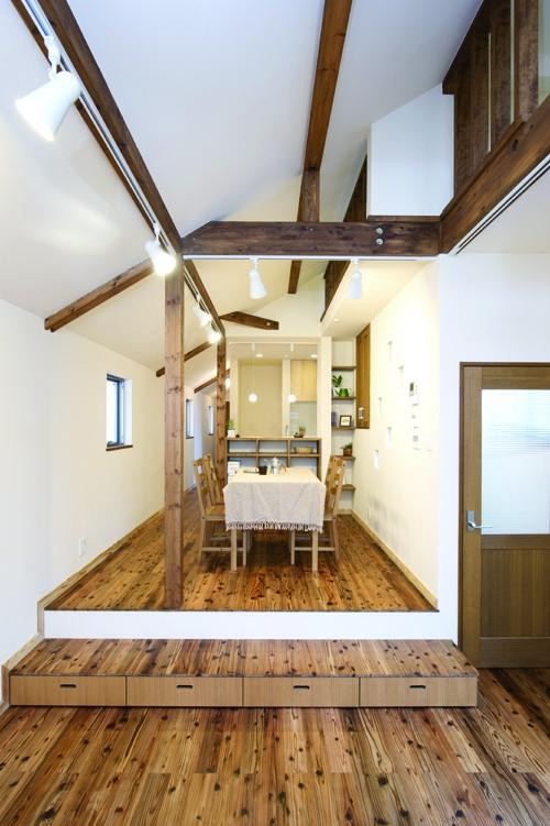 リフォーム・リノベーション会社:株式会社 夢工房「自然素材とスキップフロアが楽しい家」