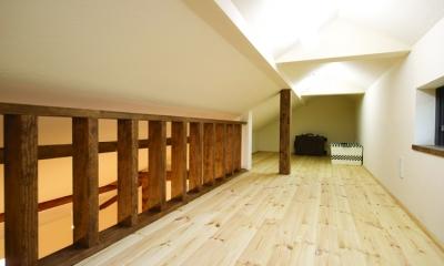 東京都大田区I様邸 ~自然素材とスキップフロアが楽しい家~ (ロフト空間)