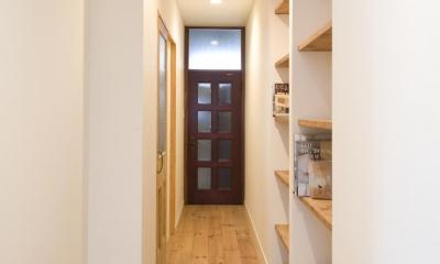 S邸・自然素材を用いて、オリジナリティーのある改修を。 (廊下)