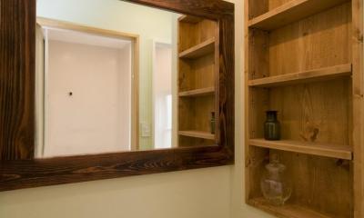 S邸・自然素材を用いて、オリジナリティーのある改修を。 (洗面台)