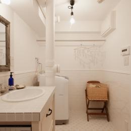 S邸・上品に味わい深く住まうの写真 洗面・ランドリー(バスルーム)