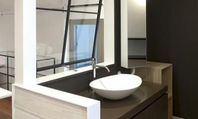 明るい洗面所|KAWAGISHI Renovation
