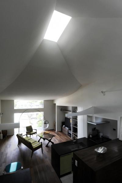 ひかりと雲の家(師岡の家) (雲のような天井とトップライト2)