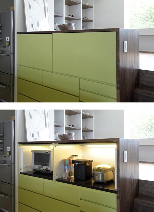 ひかりと雲の家(師岡の家)の部屋 家具としてデザインされたキッチン2