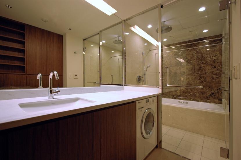 六本木T邸の写真 洗面・浴室