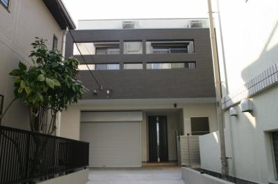旗竿状敷地の住宅 (外観3)