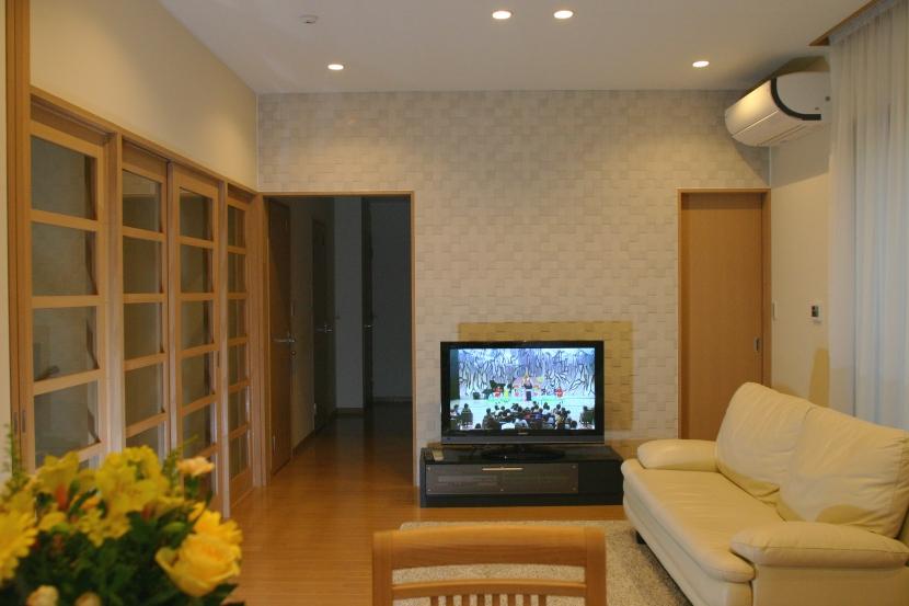 旗竿状敷地の住宅の部屋 居間・食堂1