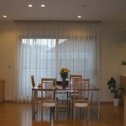 旗竿状敷地の住宅 (居間・食堂)