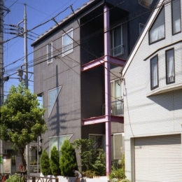 都心地の鉄骨3階建て戸建住宅-N (外観2)
