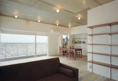 名古屋の住宅 (リビングダイニング)