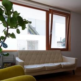宇佐の家 (リビングの雰囲気を変える木製サッシ)