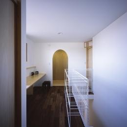 宇佐の家 (書斎コーナーがある階段室)