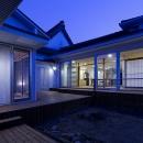 宇佐の家の写真 中庭の夕景