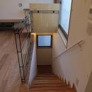 世田谷の家の写真 ロフトまで続く一直線の階段1