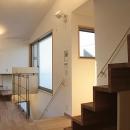 世田谷の家の写真 キッチンから階段を見る