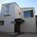 世田谷の家の写真 木製サッシの出窓が印象的な外観