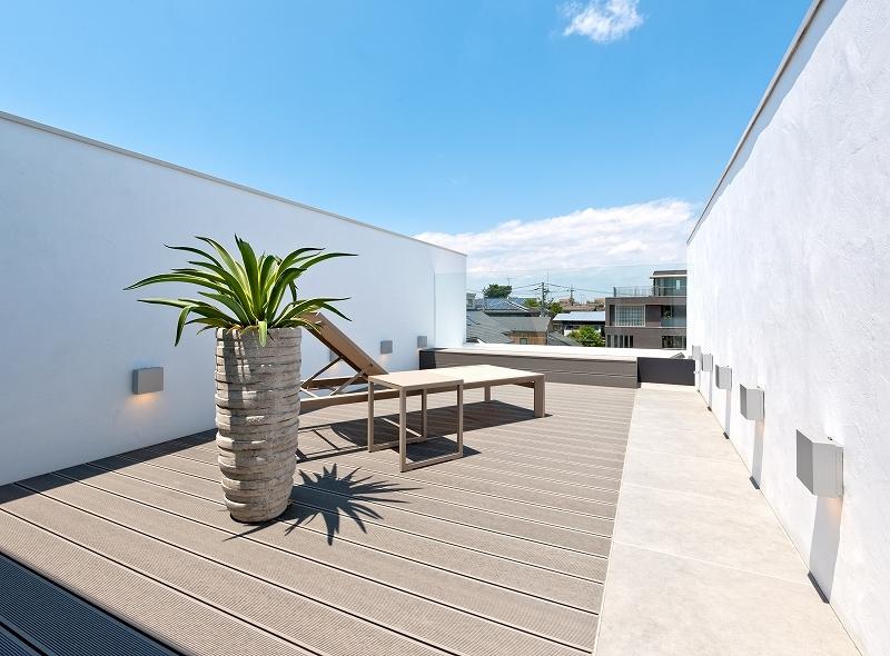 自然素材の家 オークラモデルの部屋 ルーフテラス