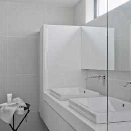 自然素材の家 オークラモデル (洗面室)