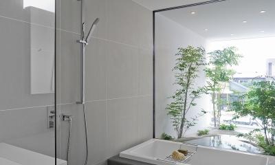自然素材の家 オークラモデル (2階 浴室)
