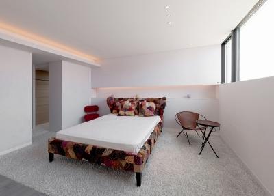 自然素材の家 オークラモデル (ベッドルーム)