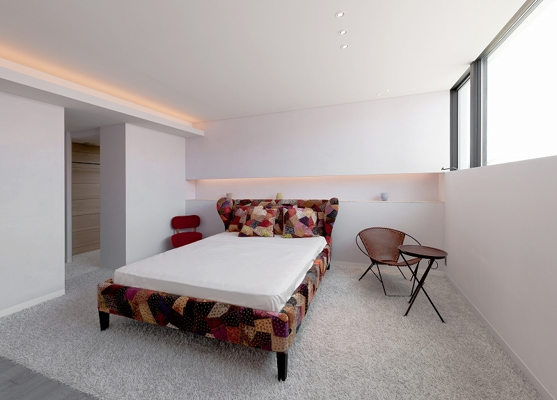 自然素材の家 オークラモデルの部屋 ベッドルーム