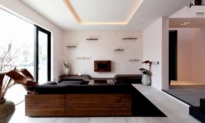 自然素材の家 オークラモデル (リビング)