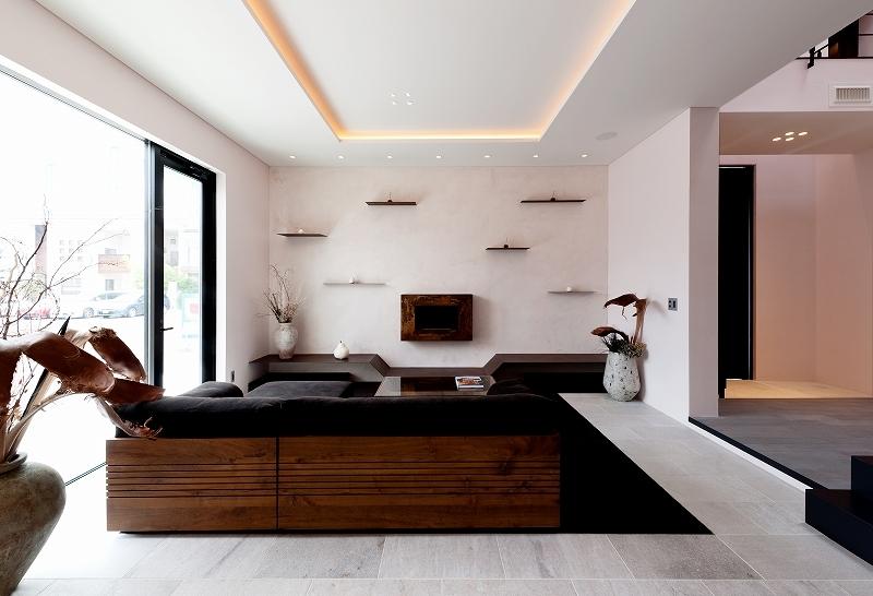 自然素材の家 オークラモデルの部屋 リビング