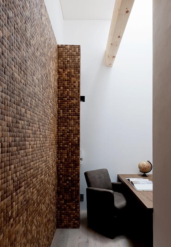 自然素材の家 オークラモデルの部屋 書斎