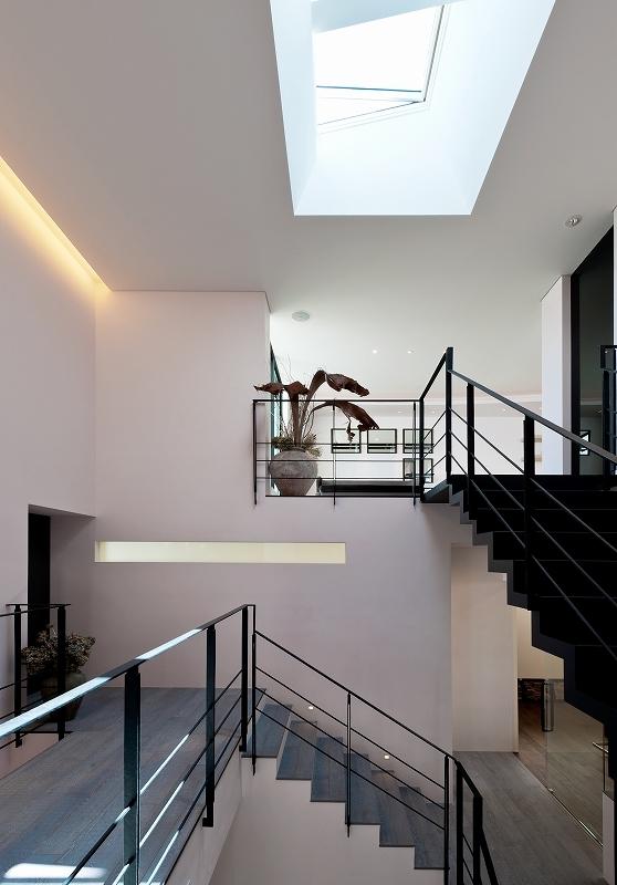 自然素材の家 オークラモデルの部屋 吹き抜けのある大空間
