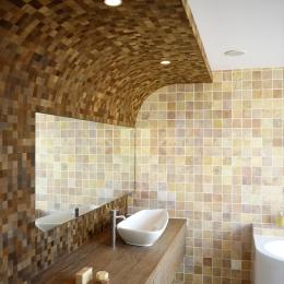 自然素材の家 駒沢モデル (洗面室)