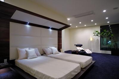 自然素材の家 駒沢モデル (ベッドルーム)