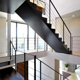 自然素材の家 駒沢モデル (階段)