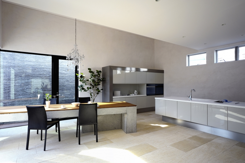 自然素材の家 駒沢モデル (ダイニングキッチン)