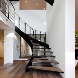 自然素材の家 瀬田モデル-階段