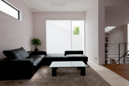 自然素材の家 三鷹モデル (リビング)