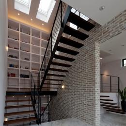自然素材の家 三鷹モデルの写真 階段