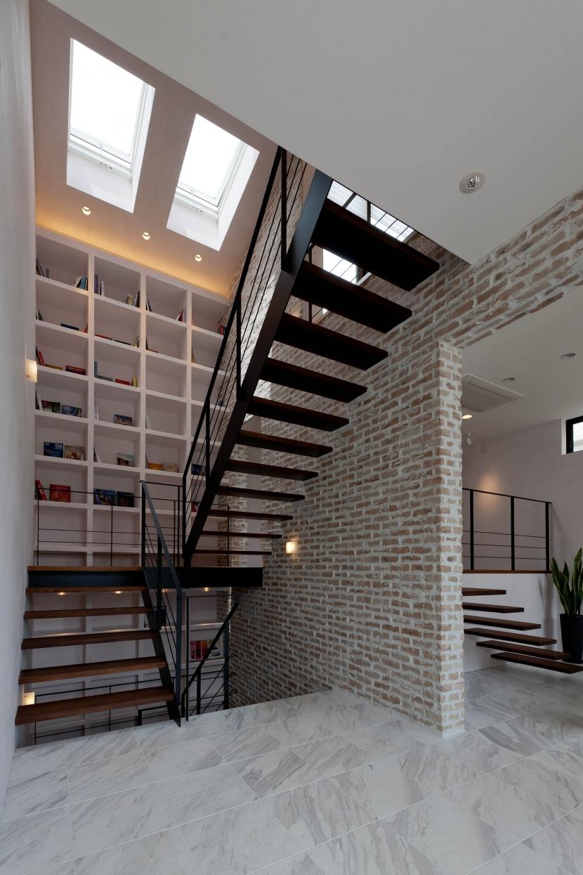 その他事例:階段(自然素材の家 三鷹モデル)