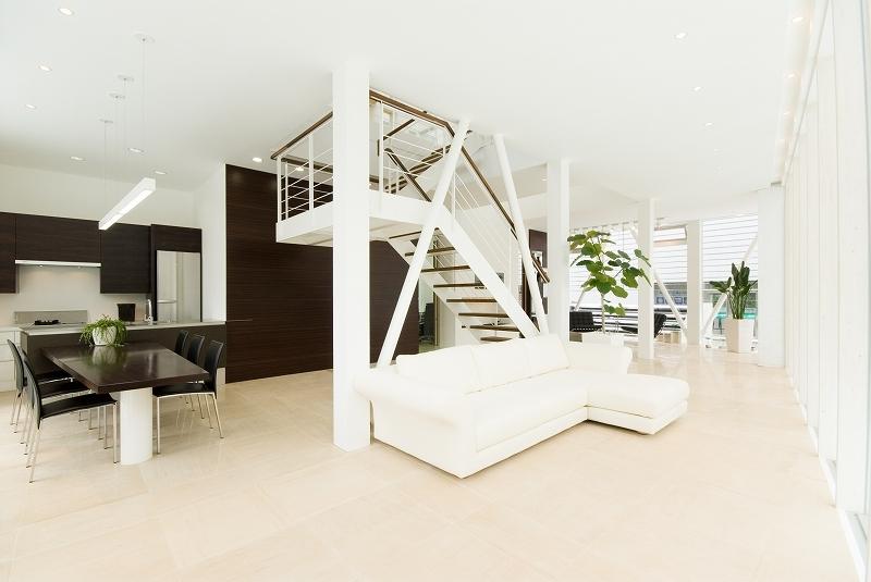自然素材の家 港北モデルの部屋 階段がある空間