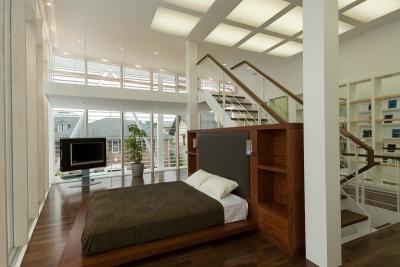 自然素材の家 港北モデル (ベッドルーム)