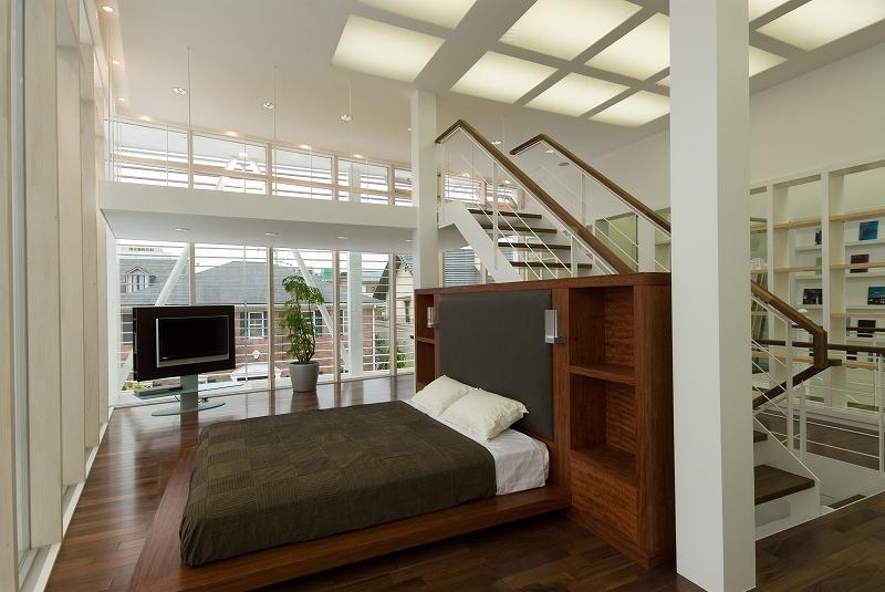 自然素材の家 港北モデルの部屋 ベッドルーム