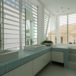 自然素材の家 港北モデル (浴室)