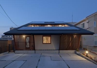 今宿の家1 (外観(夜景))